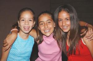 Azucena Mendoza, Maritere Gutiérrez y Alejandra García.