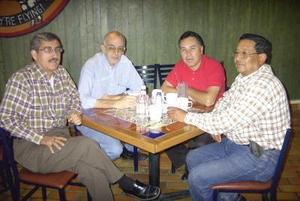 Claudio García, Francisco Urrutia, José Luis Flores y Lucas Ramos