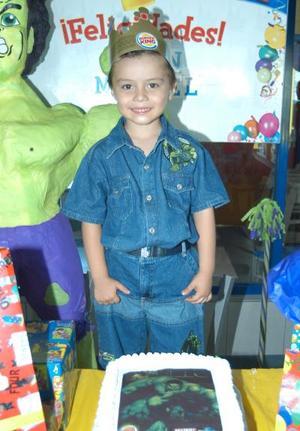 Cuatro años de edad festejó el niño Juan Manuel Ramírez García.