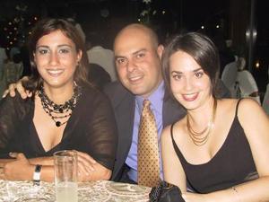 Violeta García, Alfredo Batarse y Bárbara Batarse.
