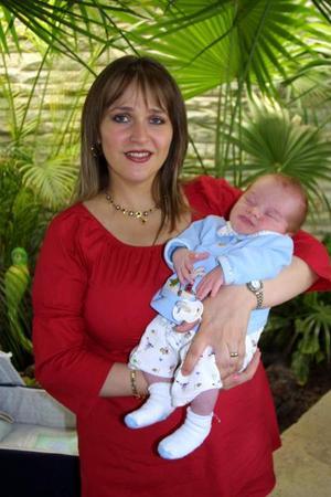 El bebé Bruno Emilio García, hijo de Joaquín García Martínez y Edna Aguiñaga de García tuvo una fiesta de bienvenida por su reciente nacimiento.