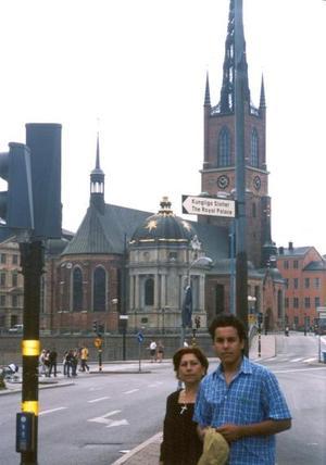 Machayo Torres de Dovalí y Jesús Manuel Dovalí Torres de vacaciones por Suecia