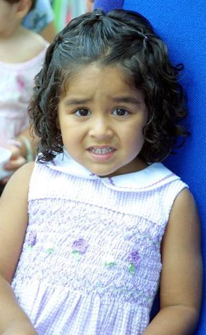 Gabriela Villarreal de Lara celebró sus tres años de vida, con un convivio ofrecido por su mamá Gaby de Lara.