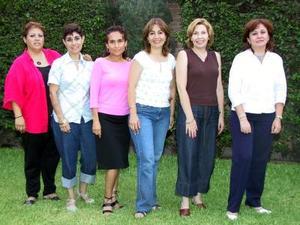 Susana Aguilera de Hugues, Lucy Gómez, Rosy Romero, Lety Borunda, Norma Aguilar y Patricia Castro.