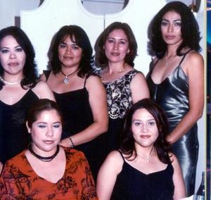 Ana María Morales Valdez, Teresa Hernández Dones, Aracelí Gómez, Carmen Salazar Valenzuel, Ana Luisa Canales y Rosa María Hernández de Ribera
