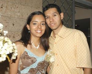<b>31 de julio</b> <p> Joanna de la Cruz Seseñas y Rogelio Molina Torres.