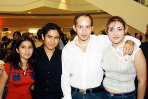 Eva Griselda Morán Núñez, Aldo Rodríguez, Roberto Zamarripa y Gaby Frías.