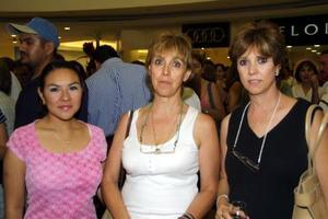 Isabel Soto, Viviana Barrena y Laurencia Sambucci.