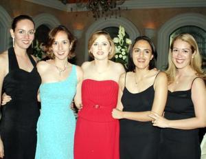 Cristina Velázquez, Paola Velázquez, Keta Bonilla, Lucero Vázquez y Vicky Hernández.