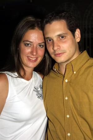 Claudia Robles y Alfredo Garza
