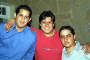 Jesús Gurrola, Ricardo Robles y Augusto García.