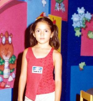 Dana Cadena cumplió nueve años de edad, es hija de los señores Argentina Borrego y César Cadena.