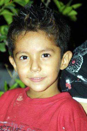 En el festejo infantil, fue captado el pequeño José Antonio Hernández.