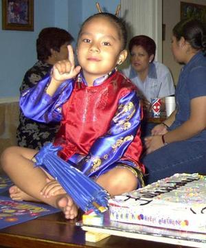 <b> 10 al 11 de agosto </b> <p> Una fiesta al estilo japonés fue ofrecida en honor de la pequeña Daniela quien cumplió cuatro años de edad.