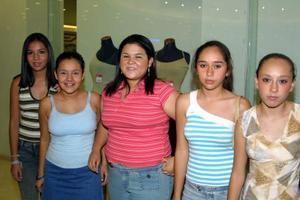 Elia García, Kristi Romero, Lorena Moreno, Sofy  Villarreal, Monse Habib