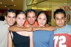 Manuel Rivas, Yoasat Torres, Manuel Serna, Lupita Ruiz y Miguel Jiménez.