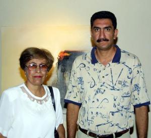 Olga Espinoza de Bernal y Alfonso Bernal Espinosa