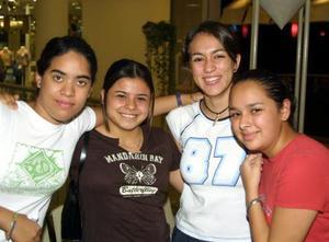 <b> 10 al 11 de agosto </b>  <p>Thalía Zamudio, Génesis Macías, Mayra Hermosillo y Nadia Sánchez.