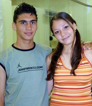 <b> 12 de agosto </b>  <p>César Brayan y Rosy García.