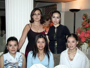 <b> 13 de agosto </b>  <p>Thajany Chaúl, Lucero Díaz, Laura García, Fany Sotelo y Karla Cáceres.