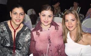 Gaby Alarcón, Pilar Barrios y Valeria Garza.