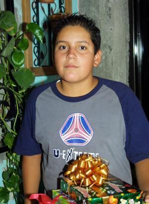 El jovencito Jesús Daniel Roel festejó su décimo segundo aniversario con un convivio ofrecido por sus papás.