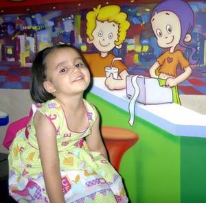 Muy bonita lució en su fiesta de cumpleaños la niña Sofía Natalia Perales.