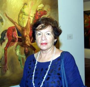 La maestra Oralia Esparza captada en una reciente exposición.