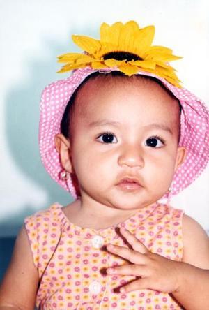 A sus ocho meses de edad, fue captada la pequeña Marina Lizeth.