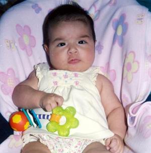 María José Estrada captada a sus cinco meses de edad.