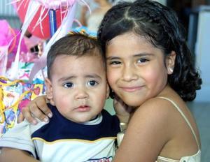 Pablo Emiliano y Alejandra festejaron su primer y séptimo cumpleaños respectivamente.