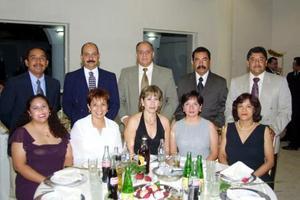 José Luis Acuña, Silvia de ACuña, Salvador Martínez de Martínez, Juan Francisco Esparza, Adriana de Esparza, Jorge Luis Becerra, Luly de Becerra, Edmundo Guzmán y Dora de Guzmán.