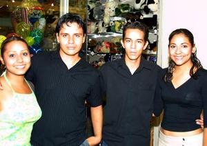 Arlette Yosemith Flores, Luis Reza, Antonio Hernández y Ana Laura Ochoa.