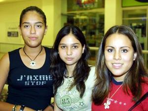 Gaby Rodríguez, Vale Martínez y Ana Laura Martínez.