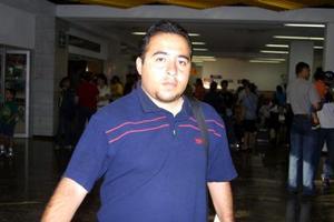 Édgar Melo Duarte fue captado en el Aeropuerto Internacional de Torreón, antes de viajar a Mazatlán.