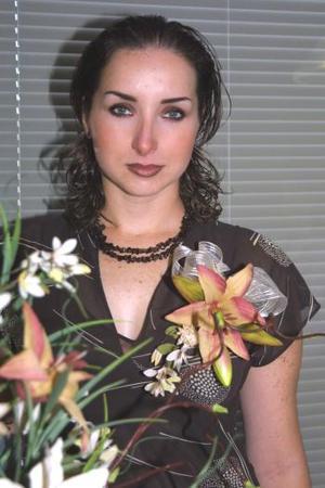 Margarita Silveyra Ponce, en la despedida de soltera que el ofrecieron con motivo de su próximo matrimonio