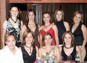 <b> 19 de agosto</b> <p>  Rita Agüero con algunas de las amistades a su primera despedida de soltera, Marcela Pereyra, Blanca Ramírez, Cecy Vidaña, Karla Contreras, Lorena Tinoco, Luly López, Illeana Dávilda y Marcela Pérez.