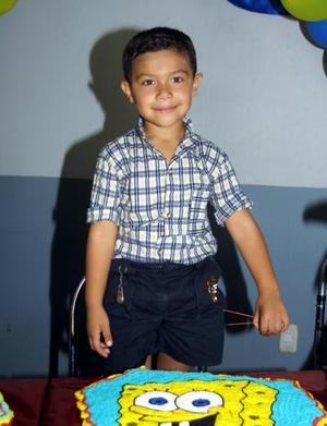 Jesús Francisco en la fiesta que le ofrecieron por su quinto cumpleaños, es hijo de Francisco Martínez y Olivia Olvera.