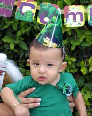 Jorge Alfredo Rodríguez Díaz en la fiesta que le ofrecieron por su primer cumpleaños, es hijo de Jorge Rodríguez y María Guadalupe de Rodríguez.