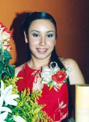 Señorita Elba Edith Tamírez Cárdenas en la fiesta de despedida que le ofrecieron en días pasados.