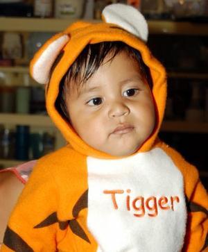 Con un atractivo disfraz, el niño Dante Andrés Rodríguez Medina celebró su primer cumpleaños.
