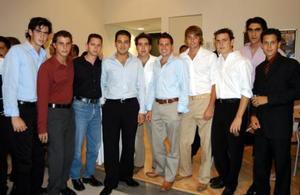 Bernardo Peña, Luis Murra, Sergio Berlanga, Carlos Bustos, Yamil Kart, Daniel Salazar, Sergio Garnier, Santiago Vera y Karim Assam.