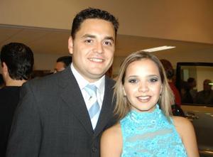 Carlos Mijares y  Alejandra Nahle.