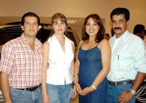 César Marcos, Verónica de Marcos, Sandra de Villarreal y Armando Villarreal.