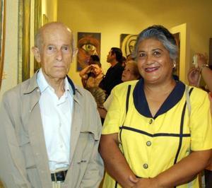 Raúl Castro y Genoveva García.
