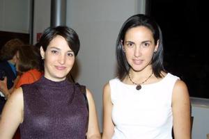 <b> 24 y 25 de agosto </b> <p> Véronica de Tinoco y Bárbara Garza.