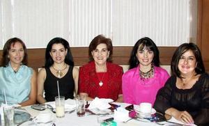 Mónica Bitar, Lorena González, Gabriela Faya, Mónica Silveyra y Gabriela Charlton.