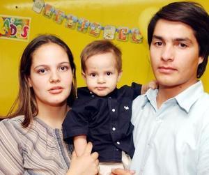 Said Alejandro fue festejado en su primer cumpleaños porsus padres Alberto Leija Magaña y Libertad Trejo de Leija