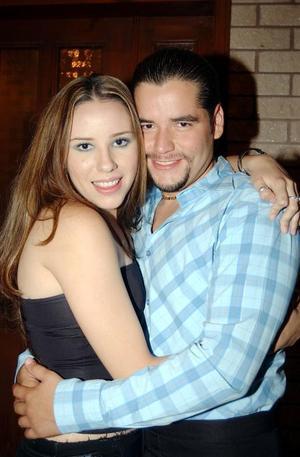 Francisco Zamora Verdeja festejó su cumpleaños en compañía de Poleth González.