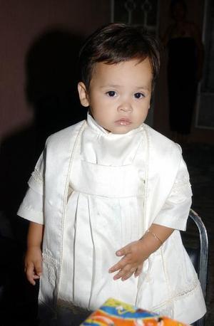 José Ángel González Ávalos el día que cumplió dos años de edad.
